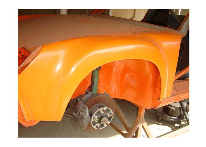 Qrs Fiberglass Front Gt-style Fenders, Pair
