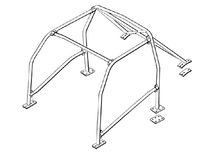 Rollcage For 924/944/968, (bolt On Diagonals)