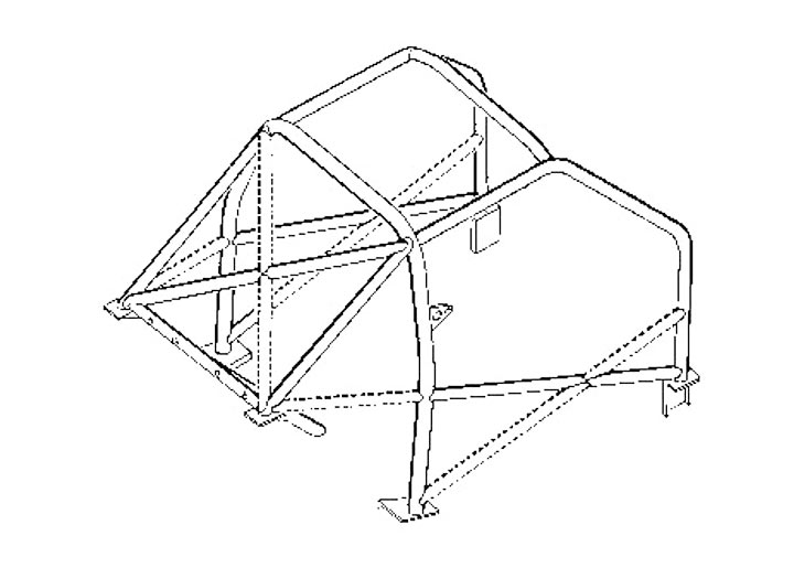 Rollcage For 924/944/968 (welded Diagonals)