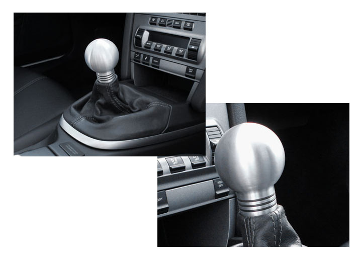 Rennline Aluminum Manual Shift Knob, Silver