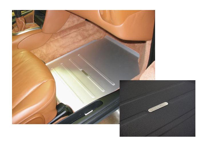 Rennline Passengers Side Track Mat Boxster, 911, Black