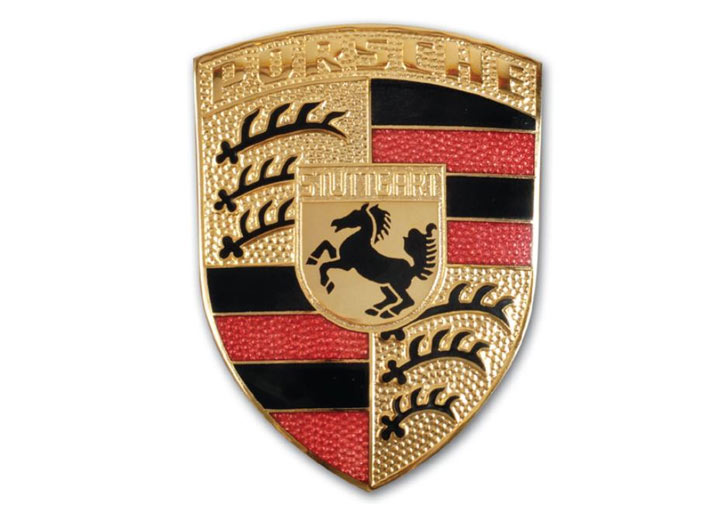 For Porsche 911 944 968 Cayman Boxter Front Emblem Gasket+2 Emblem Reatiners